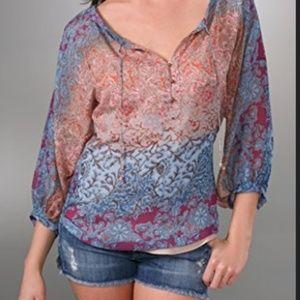 Diane Von Furstenberg Silk Chiffon Blouse S